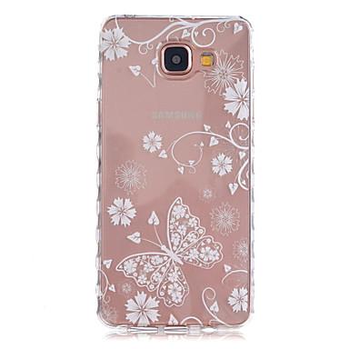Para Samsung Galaxy Capinhas Transparente / Estampada Capinha Capa Traseira Capinha Borboleta TPU Samsung A5(2016) / A3(2016)