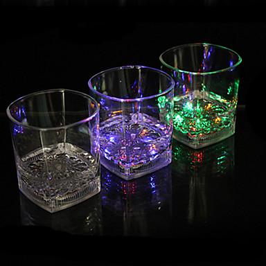 LED-licht-emitterende glas water inductie kleurrijke kwartet cup kleur kop