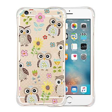 케이스 커버 용 iPhone 6 iPhone 6 Plus 뒷면 커버 충격방지 투명 패턴 카툰 소프트 실리콘 iPhone 6s Plus iPhone 6 Plus iPhone 6s iPhone 6 용