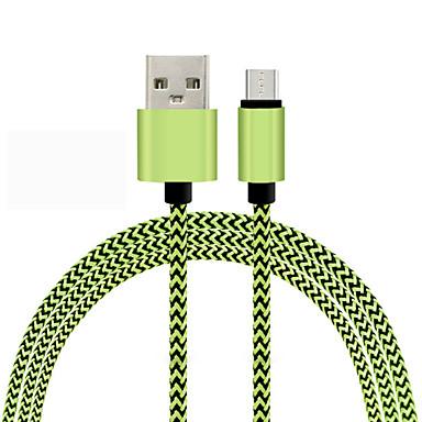1m duurzaam gevlochten micro USB-oplaadkabel koord voor Samsung HTC Android telefoon