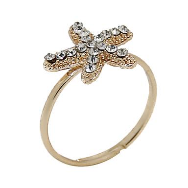 남성용 여성 문자 반지 고급 보석 모조 다이아몬드 합금 보석류 제품 파티 일상 캐쥬얼
