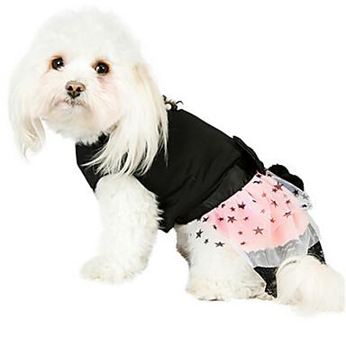 개 드레스 블랙 강아지 의류 겨울 / 여름 / 모든계절/가을 별 / 진주 패션