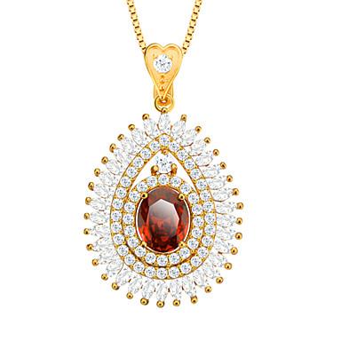 cirkónium medál nyaklánc 18k aranyozott osztrák kristály divat ékszerek nők kiegészítők márka ajándék p30106