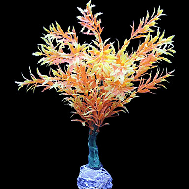 Akváriumdíszek Díszítések Vízi növény Mesterséges Műanyag