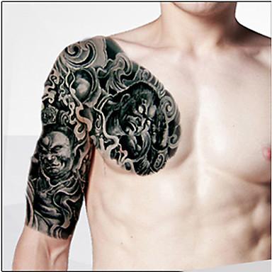 바디 메이크업 왼쪽 어깨 임시 문신 스티커 (2 개)