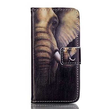 제품 iPhone 8 iPhone 8 Plus 아이폰5케이스 케이스 커버 카드 홀더 지갑 스탠드 플립 패턴 풀 바디 케이스 코끼리 하드 인조 가죽 용 Apple iPhone 8 Plus iPhone 8 아이폰 7 플러스 아이폰 (7) iPhone