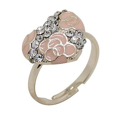 Férfi Női Vallomás gyűrűk Luxus Születési kövek Cirkonium Kocka cirkónia Hamis gyémánt Ötvözet Ékszerek Parti Napi Hétköznapi