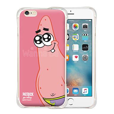Case Kompatibilitás iPhone 6 iPhone 6 Plus Ütésálló Minta Hátlap Rajzfilm Puha Szilikon mert iPhone 6s Plus iPhone 6 Plus iPhone 6s