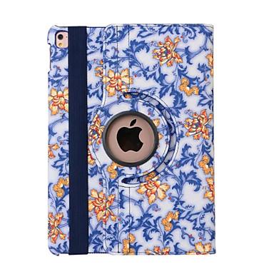 케이스 제품 스탠드 자동 슬립 / 웨이크 기능 오리가미 360°회전 전체 바디 케이스 꽃장식 PU 가죽 용 iPad Pro 9.7''