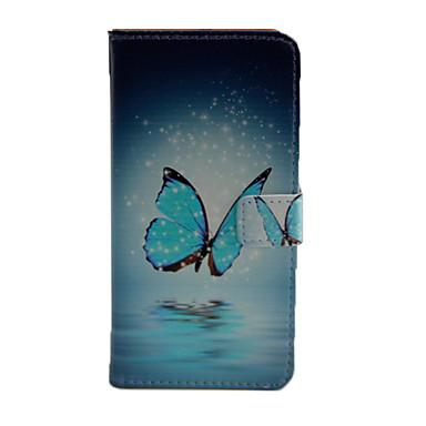 Mert Samsung Galaxy tok Pénztárca / Kártyatartó / Állvánnyal / Flip Case Teljes védelem Case Pillangó Műbőr Samsung J5 (2016)