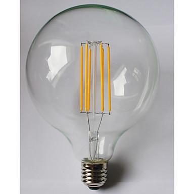 8W E26/E27 Lâmpadas de Filamento de LED G125 8 leds COB Impermeável Decorativa Branco Quente Âmbar 980lm 2700K AC 85-265V