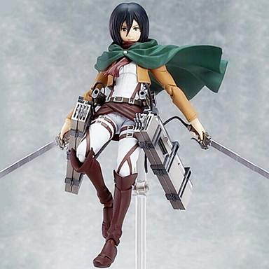 애니메이션 액션 피규어 에서 영감을 받다 Sword Art Online Mikasa Ackermann PVC 15 CM 모델 완구 인형 장난감