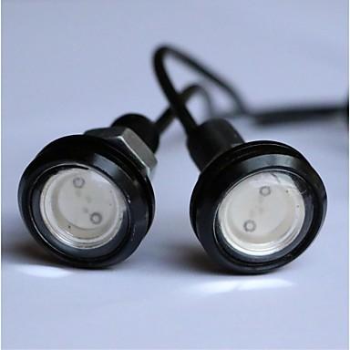 זול תאורת יום לרכב-המכונית הובילה 18mm waterproof עין הנשר אור 12v - 2pcs