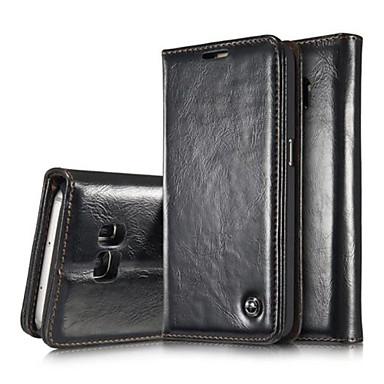Para Samsung Galaxy S7 Edge Porta-Cartão / Carteira / Com Suporte / Flip / Magnética Capinha Corpo Inteiro Capinha Cor Única Couro PU