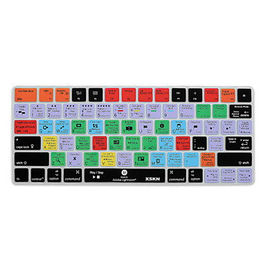 XSKN Lightroom cc snelkoppeling toetsenbord cover silicone skin voor magic keyboard 2015 versie, ons lay-out