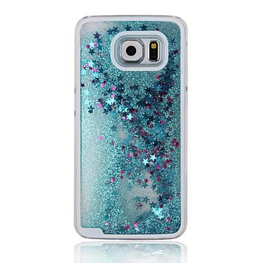 Para Samsung Galaxy Capinhas Liquido Flutuante Capinha Capa Traseira Capinha Brilho com Glitter PC Samsung A5(2016)