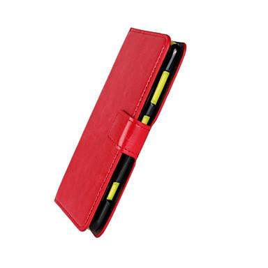 Case Kompatibilitás Nokia Lumia 625 Nokia Nokia tok Kártyatartó Pénztárca Állvánnyal Héjtok Tömör szín Kemény PU bőr mert