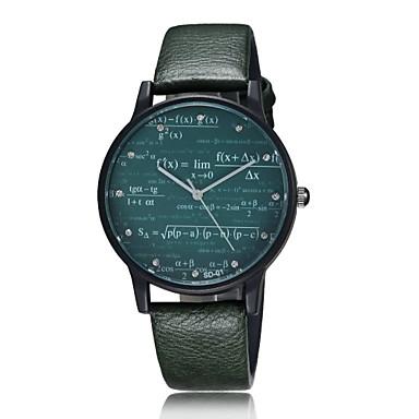 Férfi Női Páros Divatos óra Egyedi kreatív Watch Kvarc Bőr Zenekar Régies (Vintage) Kreatív Fekete Beige Fehér Fekete Zöld
