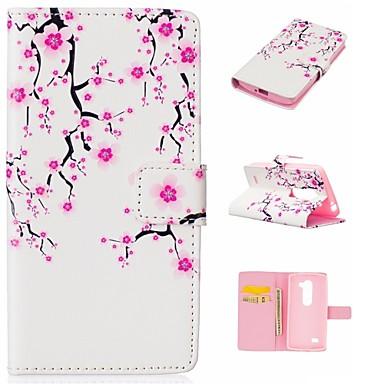 용 LG케이스 카드 홀더 / 지갑 / 스탠드 / 플립 / 패턴 케이스 풀 바디 케이스 꽃장식 하드 인조 가죽 LG