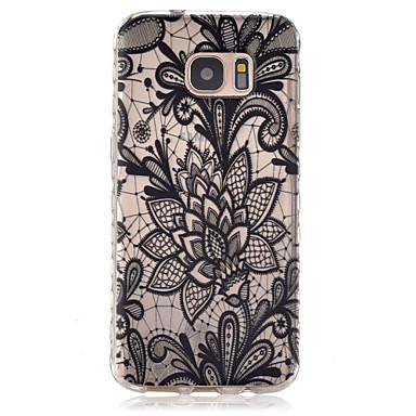 케이스 제품 Samsung Galaxy Samsung Galaxy S7 Edge 투명 패턴 뒷면 커버 꽃장식 TPU 용 S7 edge S7