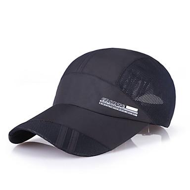 캡(35) 고글 모자 봄 여름 빠른 드라이 러닝 캠핑 & 하이킹 피싱 등산 남성용 매쉬 한 색상