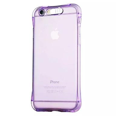voordelige iPhone 6 Plus hoesjes-hoesje Voor Apple iPhone 6s Plus / iPhone 6s / iPhone 6 Plus LED-knipperlicht / Transparant Achterkant Effen Zacht TPU
