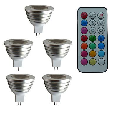 3 W 300 lm GU5.3(MR16) LED Σποτάκια MR16 1 leds LED Υψηλης Ισχύος Με ροοστάτη Διακοσμητικό Τηλεχειριζόμενο RGB AC 12V DC 12V