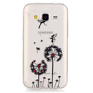 제품 삼성 갤럭시 케이스 케이스 커버 투명 뒷면 커버 케이스 민들레 TPU 용 Samsung Galaxy Grand Prime Core Prime