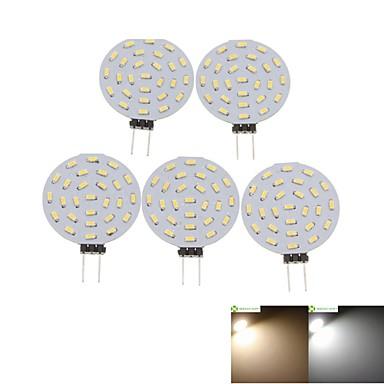 SENCART 5pcs 2W 3000-3500/6000-6500lm G4 LED 스팟 조명 MR11 36 LED 비즈 SMD 3014 장식 따뜻한 화이트 / 차가운 화이트 12V / 5개 / RoHS 규제