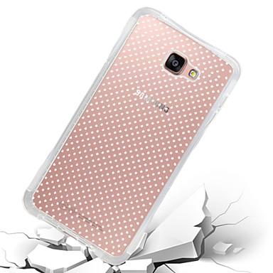 Case Kompatibilitás Samsung Galaxy Samsung Galaxy tok Ütésálló Átlátszó Fekete tok Tömör szín TPU mert A7(2016) A5(2016) A9 A8