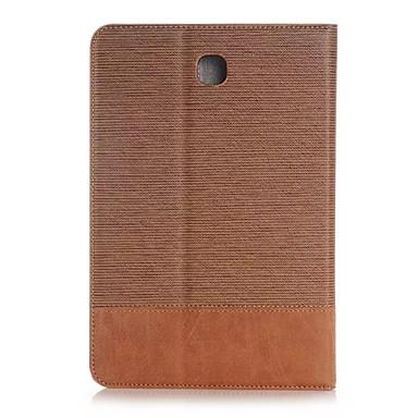 Mert Samsung Galaxy tok Kártyatartó / Pénztárca / Állvánnyal / Flip Case Teljes védelem Case Egyszínű Műbőr Samsung Tab S2 9.7