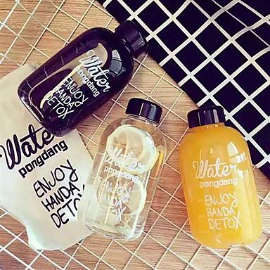 Botella de agua deportiva de 500 ml botella de agua jugo de limón botella de plástico de entrenamiento al aire libre