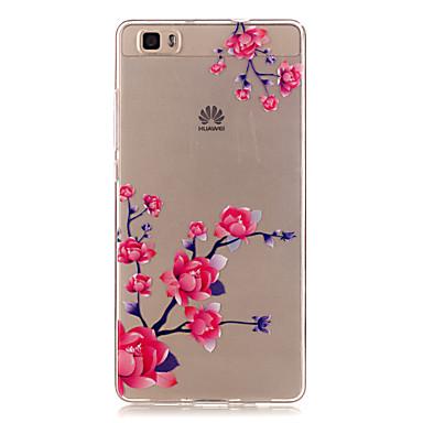 Case Kompatibilitás Huawei P9 Lite P9 P8 Lite Huawei tok Átlátszó Hátlap Virág Puha TPU mert Huawei P9 Huawei P9 Lite Huawei P8 Lite