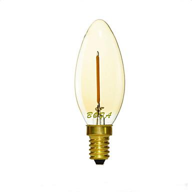 E12 e14 e26 e27 2200k-3000k 50-100lm 110v 220v 1w 1led диммированная ретро-имитация вольфрамовой нити накалила свечу