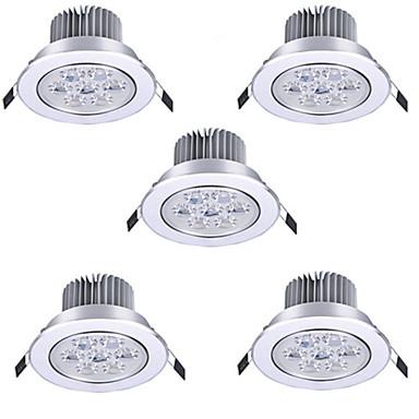 5pçs 7 W LED Ceilling Light Recessed Downlight Lâmpadas de Foco de LED 7 Contas LED LED de Alta Potência Decorativa Branco Quente / Branco Frio 85-265 V / RoHs / 90