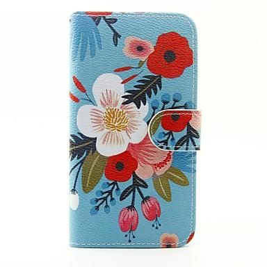 Mert Samsung Galaxy S7 Edge Kártyatartó / Pénztárca / Állvánnyal / Flip / Minta Case Teljes védelem Case Virág Műbőr SamsungS7 edge / S7