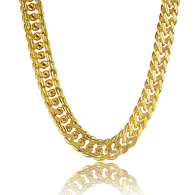 cheap Necklaces-Men's Chain Necklace Mariner Chain Personalized Dubai Hip Hop Platinum Plated Gold Plated Gold Filled Golden Necklace Jewelry For Gift Daily Casual Sports Beach