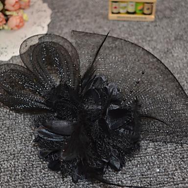ieftine Bijuterii de Păr-Pentru femei femei Vintage Petrecere Romantic Pană Plasă Aliaj Fascinators Nuntă Petrecere