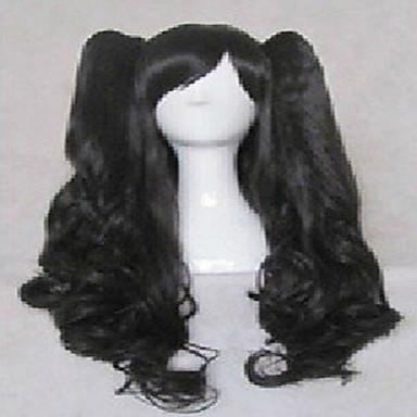 Γυναικείο Συνθετικές Περούκες Χαλαρά κυματιστά Μαύρο κοστούμι περούκα Περούκες μεταμφιέσεων