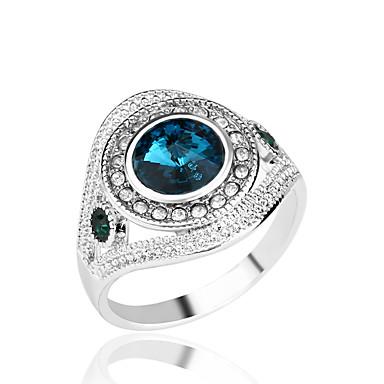 문자 반지 모조 다이아몬드 합금 패션 화이트 레드 그린 블루 보석류 파티 일상 캐쥬얼 1PC