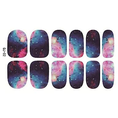 1 개, 일본은 다시 접착제 손톱 스티커 12 게시물 슬라이스 별이 빛나는 하늘 하라주쿠