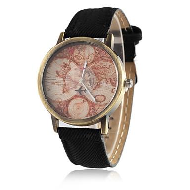 Bărbați Ceas La Modă Ceas de Mână Quartz / PU Bandă Vintage Casual Cool World Map Pattern Negru