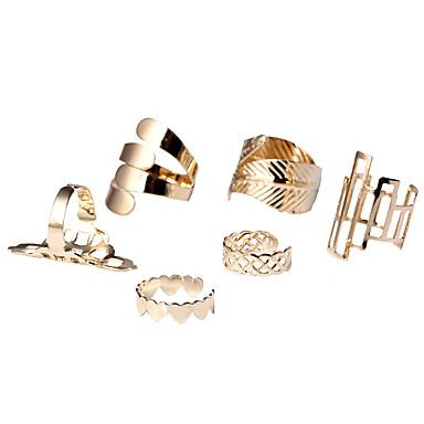 Női Ötvözet Leaf Shape Szív Ékszer készlet mandzsetta Ring Nyilatkozat gyűrű - Leaf Shape Szív Szív Divat minimalista stílusú Arany Gyűrű