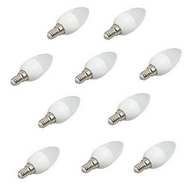 10pcs 3W 200lm E14 LED 캔들 조명 C35 8 LED 비즈 SMD 2835 장식 따뜻한 화이트 차가운 화이트 220-240V