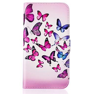 케이스 제품 LG LG케이스 카드 홀더 지갑 스탠드 플립 패턴 전체 바디 케이스 버터플라이 하드 PU 가죽 용