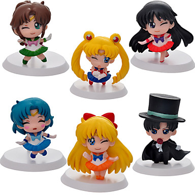 Anime Action Figures geinspireerd door Sailor Moon Sailor Moon PVC 5 CM Modelspeelgoed Speelgoedpop