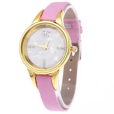 여성용 패션 시계 모조 다이아몬드 시계 석영 캐쥬얼 시계 가죽 밴드 블랙 화이트 레드 브라운 핑크