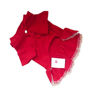 Σκύλος Φορέματα Ρούχα για σκύλους Σκούρο Κόκκινο Στολές Για κατοικίδια