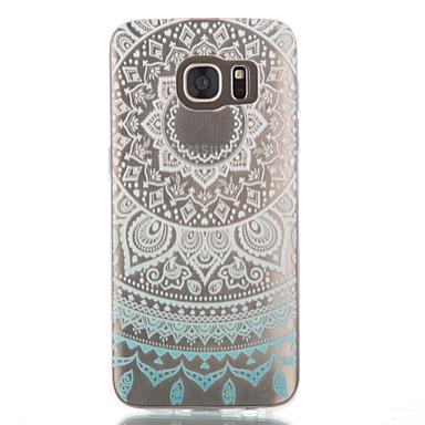 용 Samsung Galaxy S7 Edge 투명 / 패턴 케이스 뒷면 커버 케이스 만다라 TPU Samsung S7 edge / S7 / S6 edge / S6 / S5