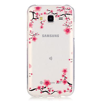 제품 삼성 갤럭시 케이스 케이스 커버 투명 뒷면 커버 케이스 꽃장식 TPU 용 Samsung Galaxy J5 (2016) J5